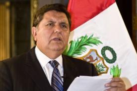 Alan García se pronuncia ante el incremento de sueldo a los ministros