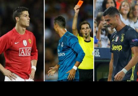 Cristiano Ronaldo y sus once expulsiones en su carrera futbolística