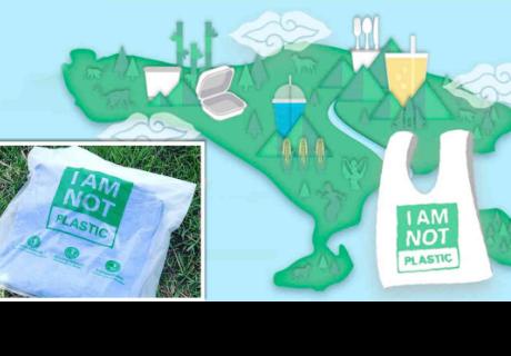 Las innovadoras bolsas 'plásticas' que se disuelven en agua