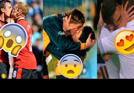 Los 7 besos más célebres del fútbol