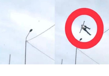 Hombre cae misteriosamente del cielo y cibernautas quedan preocupados