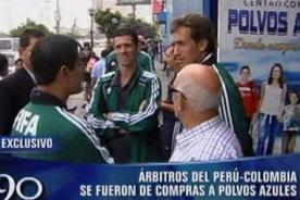 Perú vs Colombia: Árbitros del partido visitaron Polvos Azules (Video)