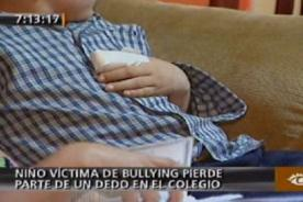 Video: Niño de ocho años pierde el dedo por Bullying