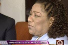 Bartola demandará a Lucía de la Cruz por difamación y calumnia