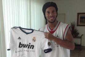 Cristiano Ronaldo envió camiseta del Real Madrid a Ronaldinho