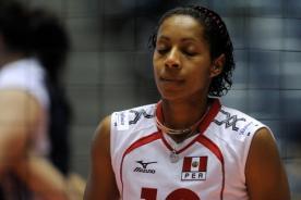 Leyla Chihuán llora con el triunfo de Perú ante Serbia - Tailandia 2013