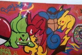 Graffitis Pokémon: Creatividad y diversión con aerosol - Fotos