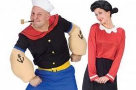 Feliz Halloween para parejas con estos disfraces de Popeye y Olivia