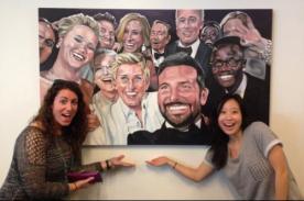 La oficina de Twitter cuenta con una pintura del selfie de Ellen DeGeneres