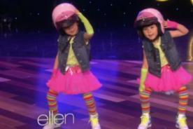 ¡Ternura! Gemelas sorprenden con baile en programa de Ellen DeGeneres - Video