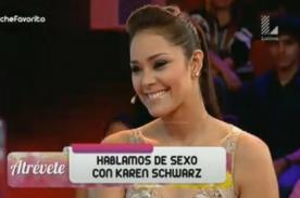 Estas fueron las confesiones íntimas de Karen Schwarz - VIDEO
