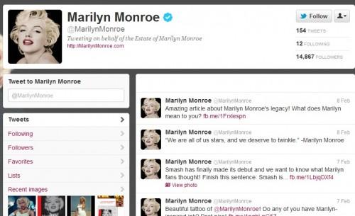 Marilyn Monroe ya tiene Twitter oficial