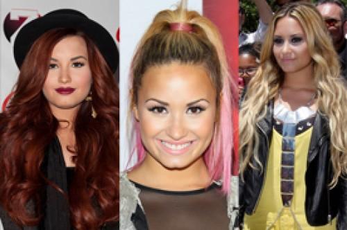 Demi Lovato y sus cambios de look durante el 2012 (Fotos)