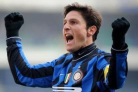 Fútbol italiano: Javier Zanetti jugará su partido 800 con el Inter