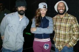 Rihanna se prepara con Damian y Ziggy Marley para los Grammy Awards 2013