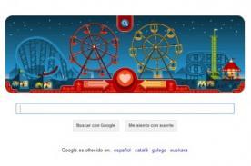Google: Doodle desea feliz San Valentín con 'La Noria' de George Ferris