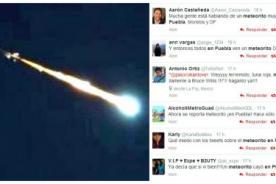 Mexicanos avisaron por Twitter la presencia de un supuesto meteorito