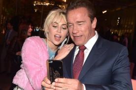 ¡Miley Cyrus y Arnold Schwarzenegger se llevan muy bien!