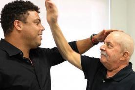 Ronaldo visitó a expresidente Lula Da Silva