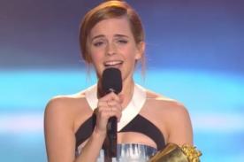 Emma Watson dio emotivo discurso tras recibir premio en los MTV MA