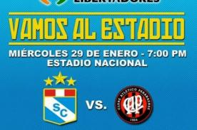 Sporting Cristal y Atlético Paranaense jugarán en el Estadio Nacional