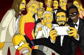 Los Simpson realizan parodia del 'selfie' hecho en la entrega del Oscar