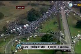 Selección argentina fue recibida por multitud de hinchas [Video]