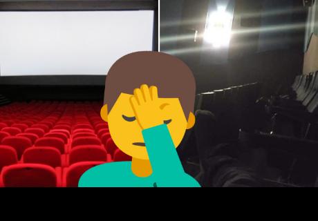 Se fue al baño del cine, salió y descubrió que se quedó solo