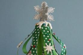 Cómo hacer tu árbol de Navidad con hojas de papel