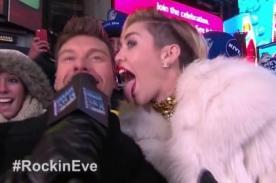 Miley Cyrus cerró el 2013 con sorpresiva presentación en New York - Video