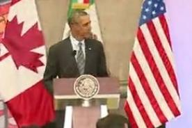 Video: Barack Obama condenó la violencia en Venezuela