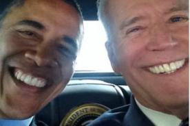 Vicepresidente de Estados Unidos comparte selfie con Barack Obama