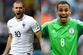 Partidos Mundial Brasil 2014: Alineaciones Francia vs Nigeria – 30 de Junio