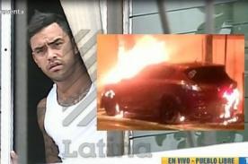 Diego Chávarri da la cara luego del incendio de su auto y ruega a medios hacer esto