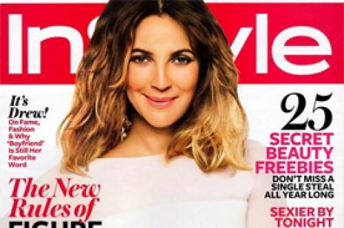 Drew Barrymore desborda glamour en la nueva edición de InStyle