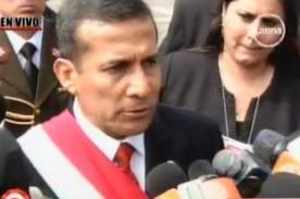 Declaraciones de Ollanta Humala tras discurso por la Independencia del Perú 2012 - Video