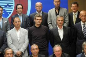 Tito Vilanova y José Mourinho juntos en reunión de la UEFA