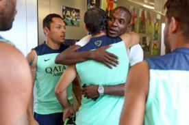 Éric Abidal visita Barcelona