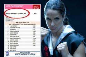 Kina Malpartida no figura como campeona mundial en el ranking de la AMB