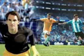 Lionel Messi y Roger Federer juntos en spot publicitario (VIDEO)