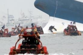 Naufragio causa pánico en Corea del Sur