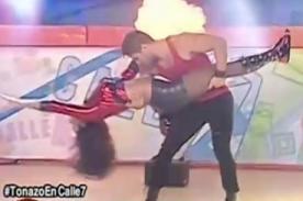 Calle 7: Karen Schwarz hace su baile sensual [VIDEO]