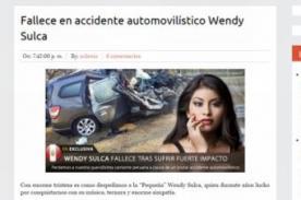 ¿Murió Wendy Sulca? Reportan trágico accidente de la cantante