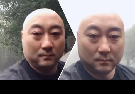 Hombre se graba, su cabeza 'desaparece' y cibernautas quedan impactados