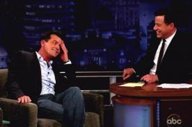 Charlie Sheen bromea sobre rol de Ashton Kutcher en Two and a Half Men