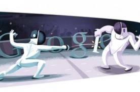 Nuevo Doodle Olímpico es Londres 2012 Esgrima - Google