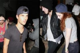 Kristen Stewart y Taylor Lautner asisten juntos a concierto