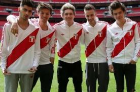 One Direction en Lima: Banda luce camiseta peruana