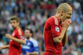 Champions League: Arjen Robben perdió las últimas cuatro finales que jugó