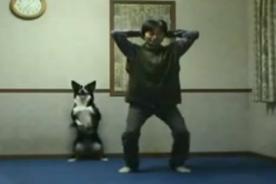 Video: Perro hace sentadillas junto a su dueño